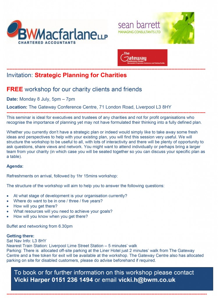 8 July Strategic Planning Workshop