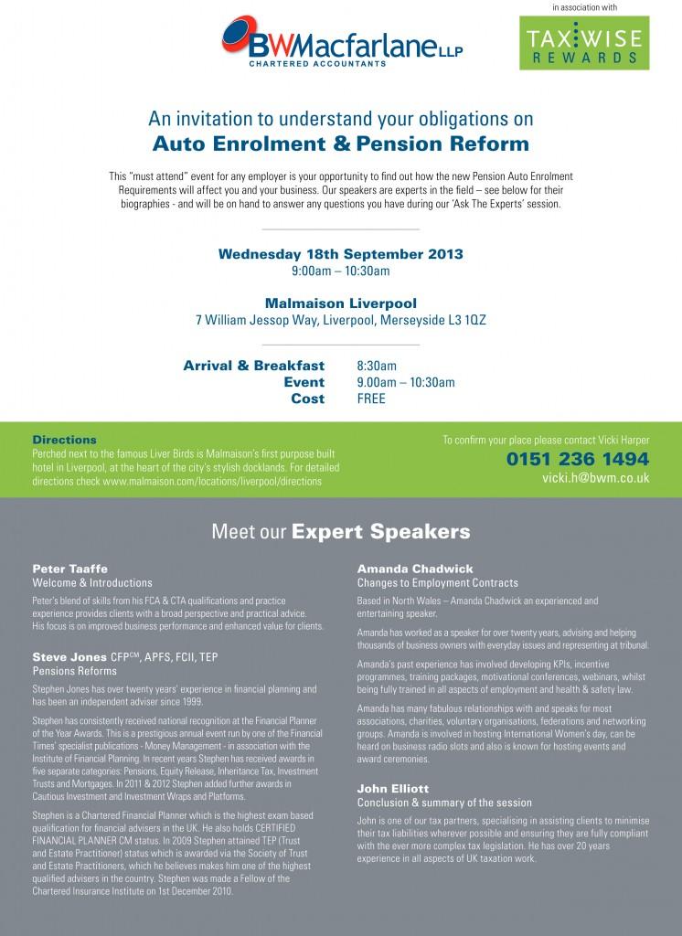 Seminar invite