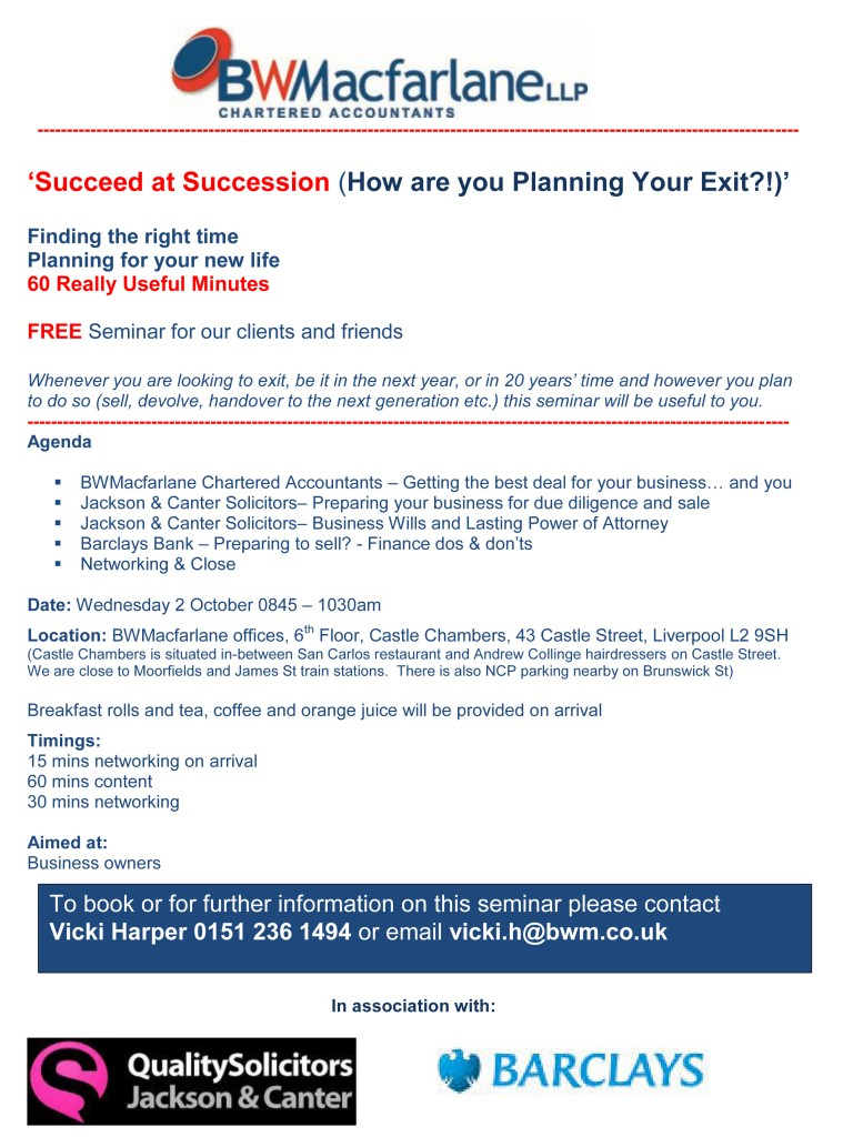 Succeed at succession planning