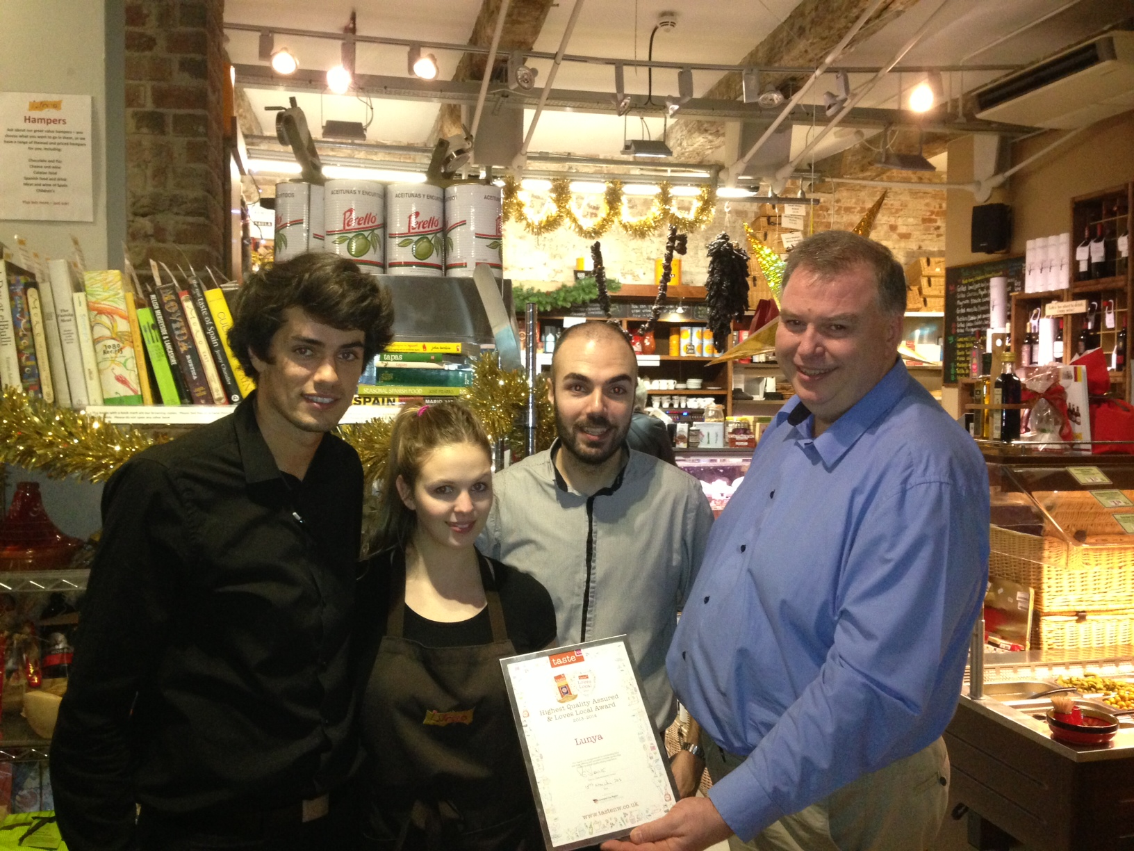 Lunya owner Peter Kinsella and his award winning team